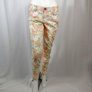 ELLE Floral 5 Pocket Jeans size 8